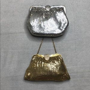 Vintage Mesh Gold Silver Evening Bags SP